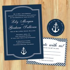DIY Nautical Wedding Invitation Suite  Custom by lestudios on Etsy