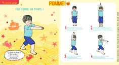Le pirate - Le yoga de Pomme d'Api.  #yogapourenfant #yoga #yogaenfant #enfant #enfants #pommedapi #activité #activitéenfant #loisirsenfant #bayard #bayardjeunesse #magazine #magazinejeunesse Relaxation Meditation, Relaxing Yoga, Yoga For Kids, Exercise For Kids, Yoga Sport, Baby Yoga, Yoga Gym, Kids Education, Poses