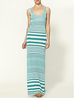 Maryam Stripe Tank Maxi Dress by Whetherly