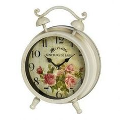 Get your Senteurs De Rose Clock from Baytree Interiors or choose from their selection of price matched Wall Clocks. Rose Shabby Chic, Shabby Chic Clock, Style Shabby Chic, Shabby Chic Decor, Rose Clock, Mantel Clocks, Mantle, Traditional Interior, Shop Interiors