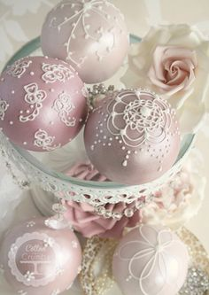 Large Spheres Wedding Cake favours from Cotton and Crumbs.