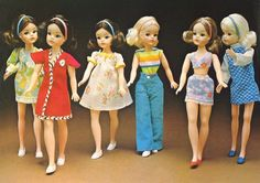 My Sindy - Fashions 1974 Childhood Toys, Childhood Memories, Sindy Doll, Barbie, Santa Gifts, My Youth, Retro Toys, Toys For Girls, Vintage Dolls