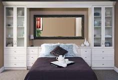 Built In Bedroom Cabinets, Bedroom Built In Wardrobe, Bedroom Built Ins, Bedroom Bed, Bedroom Storage, Bedroom Ideas, Master Bedrooms, Ikea Built In, Platform Bed Designs