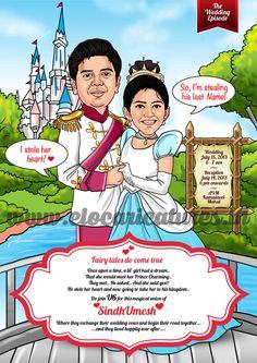 Wedding caricature - Disneyland theme!