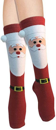 76ea575d11c Forum Novelties Women s Adult Christmas One size Socks Snowman And Santa  Holiday  fashion  clothing