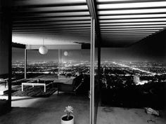 Set high in the Hollywood Hills, the midcentury-modern Case Study House No. 22, aka the Stahl House, offers a better-than-Runyon view of the city