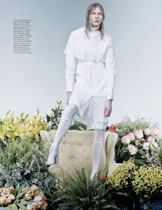 THE WHITES OF SPRING: KATI NESCHER, JULIANA SCHURIG AND ISELIN STEIRO BY CRAIG MCDEAN FOR W MARCH 2013