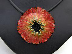 necklace Zauber-+Blüten+Halskette,+Kunst+aus+Polymer+clay++von+Schmuck+aus+Polymer+clay++auf+DaWanda.com