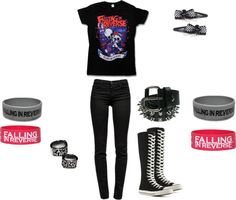 """""""Falling In Reverse day"""" by musicismysaviour ❤ liked on Polyvore"""