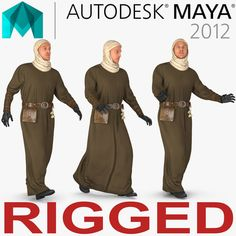 Medieval Man Rigged 3D Ma - 3D Model