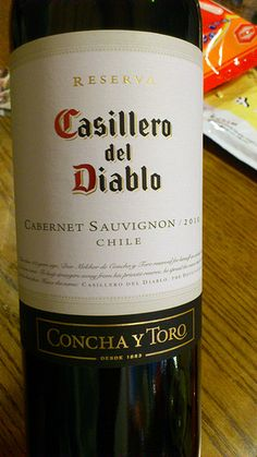 Casilleo del Diablo Cabernet Sauvignon, Wine, Bottle, Lockers, Devil, Flask, Jars