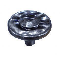 H052 Donard Knob in Hammered Pewter