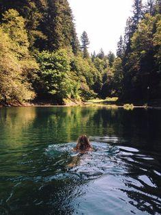 Swim in the nature. Image via: http://child-of-the-m00n.tumblr.com/