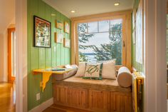 A Reading Nook, A Work Space, A Spot To Take In The Olympic Mountains And  Sailboats Passing By.