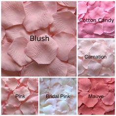 Choose from our pale pink silk rose petals. Our silk rose petals are made from a high quality micropeach polyester fabric to give them a Silk Roses, Blush Roses, Pink Silk, Blush Wedding Flowers, Pale Pink, Dark Purple, Red Silk, Fake Rose Petals, Pink Petals