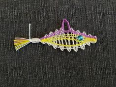Lace Making, Lace Patterns, Bobbin Lace, Sea Creatures, Tatting, Needlework, Brooch, Crochet, How To Make