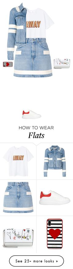 """""""flat glam"""" by candynena228 on Polyvore featuring MANGO, Givenchy, Kate Spade, Alexander McQueen and Christian Louboutin"""