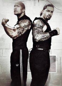 Dwayne The Rock Johnson and his Cousin WWE's Roman Reigns. He's handsome as well. The Rock Dwayne Johnson, Dwayne The Rock, Rock Johnson, Wwe Roman Reigns, Roman Reigns Tattoo, Wwe Superstar Roman Reigns, Shawn Michaels, Wwe Superstars, Fc Barcalona
