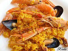 XielaMar, la mar de salada: Otro arroz de mariscos, con la Fussi.