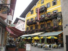 Cafe in Zell am See, Pinzgau, Austria