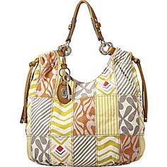Fossil Tava fabric hobo patchwork