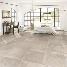 A spin on the classic look of Limestone with the Antique Limestone in Pebble Grey