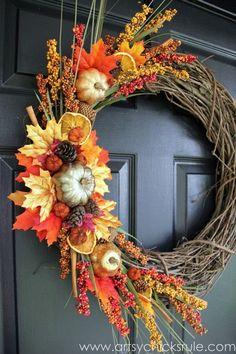 Beautiful DIY Fall Door Wreath Ideas That Impress Your Visitors – Fall Wreath İdeas. Diy Fall Wreath, Fall Wreaths, Wreath Ideas, Autumn Wreaths For Front Door, Ribbon Wreaths, Tulle Wreath, Floral Wreaths, Burlap Wreaths, Summer Wreath