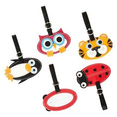 Make traveling fun for the little ones with our Critter Luggage Tags!