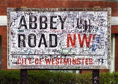 Abbey Road street sign.