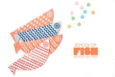 DIY School of Fish Cards