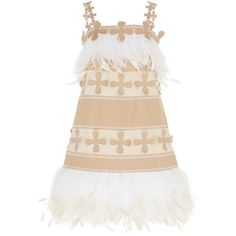Huishan Zhang Lilly Mini Dress ($2,060) ❤ liked on Polyvore featuring dresses, neutral, white mini dress, panel dress, short dresses, short white dresses and white strappy dress