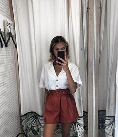 Minimalist Fashion - My Minimalist Living Style Outfits, Short Outfits, Spring Outfits, Cute Outfits, Fashion Outfits, Womens Fashion, White Outfits For Women, Outfits For Teens, Clothes For Women