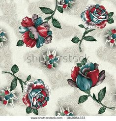 Find Wildflower Red Blue Peonies Flowers Pattern stock images in HD and millions of other royalty-free stock photos, illustrations and vectors in the Shutterstock collection. Flower Background Wallpaper, Flower Backgrounds, Cmyk Color Chart, Flower Illustration Pattern, Pattern Art, Fabric Print Design, Blue Peonies, Rose Images, Thing 1