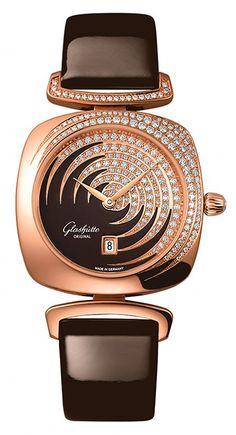Glashütte Original Pavonina red gold 18 k moca dial