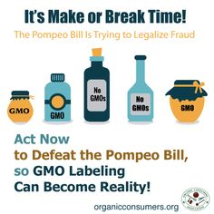 """Currently, Americans are standing at a crossroads: One way leads to certain labeling of genetically engineered (GE) foods across the country; the other will lead toward the elimination of that possibility."" It's up to us to fight for GMO labeling.  #RightToKnow #LabelGMOs"