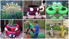 Resultado de imagen para parques infantiles de material reciclado
