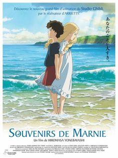 "ca-tsuka: ""French poster and news stills for Studio Ghibli ""Souvenirs de Marnie"" (When Marnie Was There) movie. Art Studio Ghibli, Studio Ghibli Movies, Studio Ghibli Poster, Hayao Miyazaki, Erinnerungen An Marnie, When Marnie Was There, Manga Anime, Anime Art, Tsurezure Children"