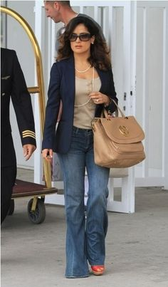 Like the idea of a blazer & jeans but have never successfully pulled it off. Body shoe is similar but taller & waist not quite as small :-/
