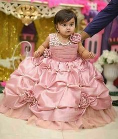 cute baby client shop this fairy gown for your kids bead work and fully flared Kids Party Wear Dresses, Baby Girl Party Dresses, Little Girl Dresses, Flower Girl Dresses, Flower Girl Tutu, Baby Girl Frocks, Frocks For Girls, Kids Lehenga, Kids Gown