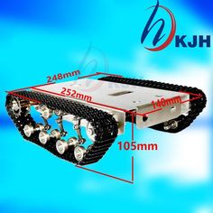 Stainless steel shock absorber Robot tank chassis crawler suspension intelligent video wifi trolley
