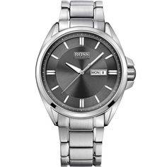 Typical BOSS - understated style. All Silver and Black Day Date Classic 1512878 Hugo Boss Watch. Hugo BOSS is available from Identity The Jewellers at: http://www.identityonline.biz/products/Hugo-Boss/314