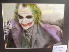 Heath Leger Joker heres my card by Sterling Mayer drawing