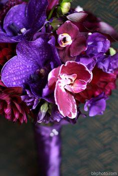Purple Wedding ~ Vibrant Bridal Bouquet #purple #bridal #bouquet  @WedFunApps wedfunapps.com ♥'d