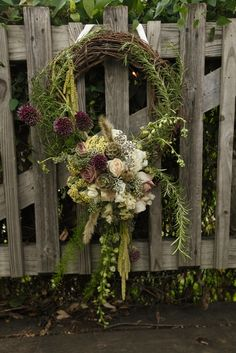 Purple, white, and green wedding wreath www.significanteventsoftexas.com Purple And Green Wedding, Lavender Green, Green Wreath, Floral Wreath, Hanging Centerpiece, Whatsoever Things Are Lovely, Wreath Crafts, Wreath Ideas, English Christmas