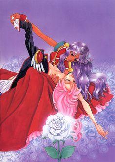 .original utena and anthy manga artwork