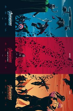 #Marvel #Avengers triptych by Rico Jr
