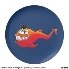 "Sea Creature ""Orangello"" Dinner Plate"