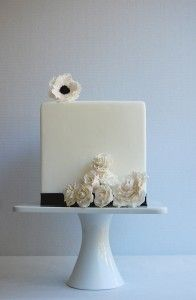Every time I discover a new cake designer I get giddy with excitement. That's exactly how I feel about Magpie's Cake.) her cake designs are definitely one to be admired and…Read more › Square Wedding Cakes, Square Cakes, Elegant Wedding Cakes, Trendy Wedding, Fondant Wedding Cakes, Wedding Cakes With Cupcakes, Cupcake Cakes, Cupcake Ideas, Gorgeous Cakes