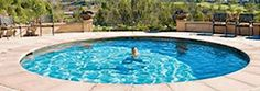 hidden patio water pool
