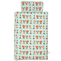 Ferm Living - Ferm Living Marionette Sengetøj - Baby - 70 x 100 cm Cot Bedding Sets, Duvet Sets, Retro Bedrooms, Mint Background, Playroom Furniture, Cute Pillows, Gifted Kids, Burke Decor, Bedroom Themes